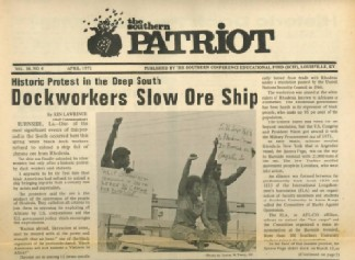 Southern Patriot. Dock workers demonstration in Burnside, Louisiana